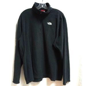 North Face Black Fleece Pull Over Jacket